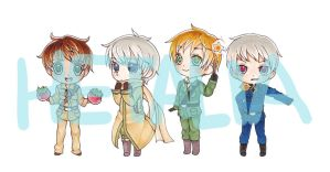 Hetalia Key chains by sevenstardust
