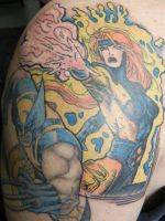 Jean Grey, Wolverine Tattoo by thedirtybird1