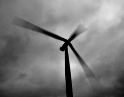 Wind turbine (black and white) by chivt800