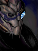 Tegaki: ME_Garrus by DarthInver