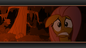 Fluttershy on nightmare night wallpaper by rhubarb-leaf