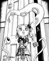 Monsters in the Closet - ink by JayMillerArt
