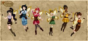Steampunk Disney Fairies by HelleeTitch