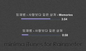 minima iTunes for Rainmeter by gazettefreak