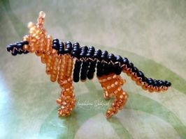 Beaded german shepherd. by Quaibie