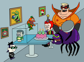 Maxwell Atoms' Birthday by HectorConCarne