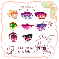 Eyes Practice + SAI file by nouraii
