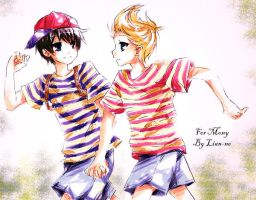 Ness and Lucas For Mony by lian-ne