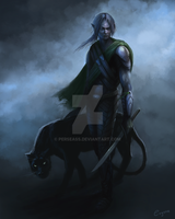 Drizzt Do'Urden by Perseass