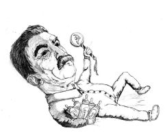 Baby Stalin by JGroeling