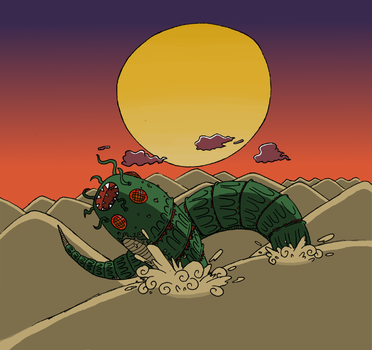 Sand worm by Corpse-Pirate