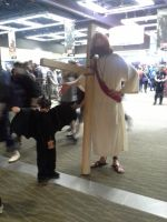 ECCC pictures: JESUS! and batman. by ParadoxialGamer