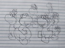 me and some of my favorite yoshis by GyRoEsEhNi