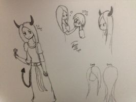 The Queen Sketches by creepcandy