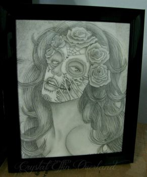 Sugar Skull Zombie Pinup by CrystalEffinOverland