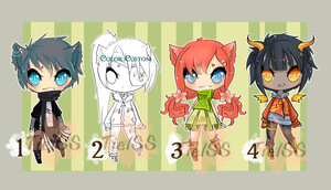 Adoptables 9  (Close) by Tielss