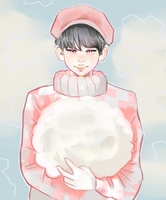 Namjoon and clouds by SugaShook