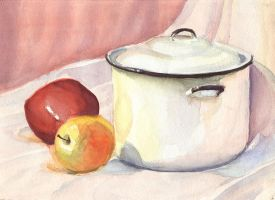 watercolour pot by nienor