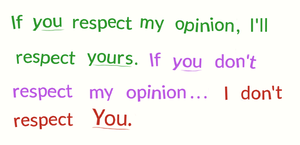 Repecting opinions 1 by PlatinumDrawings