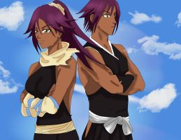Yoruichi and her bro Coloured by Mifang