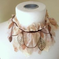 Autumn Woodland Fairy Collar by nolwen