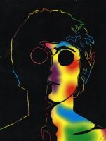 John Lennon by clockincomics