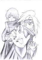 Deidara and Sasori by Nagalia