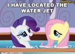 Rarity located the Water Jet by shado013