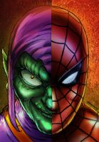 Nemeses  Spider Man And Green Goblin By Studiocomb by royhobbitz