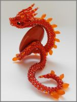 Red dragonsnake by Rrkra