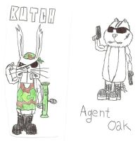 Butch and Agent Oak (rodent soldiers) by Aeruhl