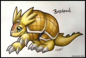 BoxHead the Armadillomon by Boltonartist