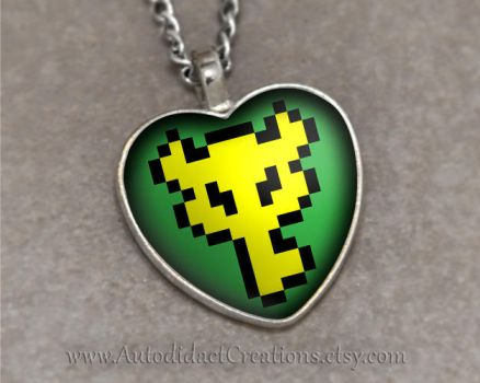 Legend of Zelda Big Key Pendant A Link to the Past by wizardcopy
