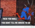 Spidey Has Problems With Walls by Adam-the-hedgehog