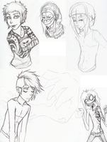 sketch dump lkswejwq wtfe by KaygeMonster