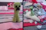 Minecraft : Creeper en peluche by astre90