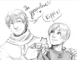 APH: Drinking is good for you! by PunPuniChu
