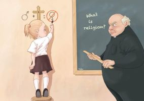 Teaching religion by Gunsmithcat