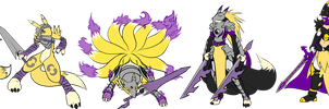 KnightRenamon Line by Medral