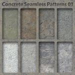Concrete Seamless Patterns 01 by bosanza