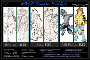 WING-IT Commission Price Guide by StangWolf