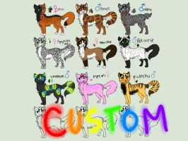 Purebred/Pokemon/cheep customs cat adopts {open} by Flare-goes-OM-adopts