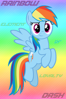 Rainbow Dash - Iphone wallpaper by mzx-90