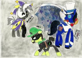 SPMny: Mr.L, Dimentio and Count Bleck by DebbyGattaTheBest