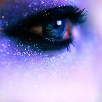 Blue Glitterati by violetlight