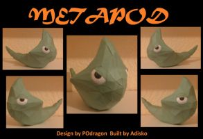Paper Pokemon Metapod by Adisko