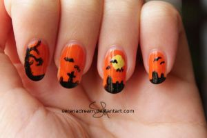 Halloween Nail art by SerenaDream