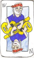 willie nelson playing card by Buhla