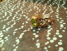 Elven silver ring peridot by Debals