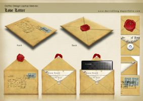 Laptop Sleeves- Love Letter by derrickfong